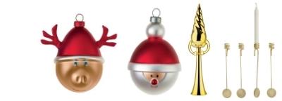 Christmas tree ornaments and balls