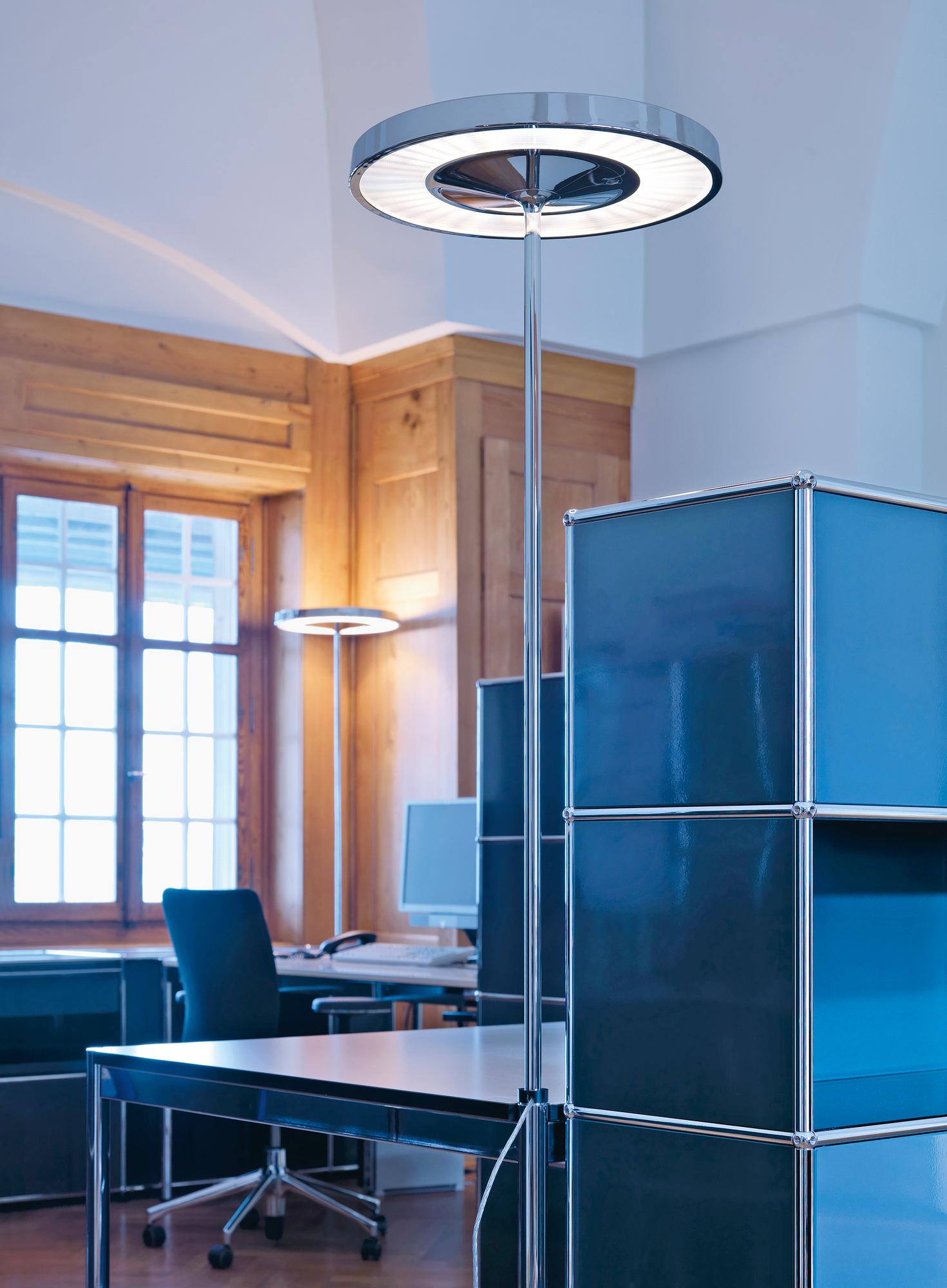Disk Table light construction for USM Haller Belux