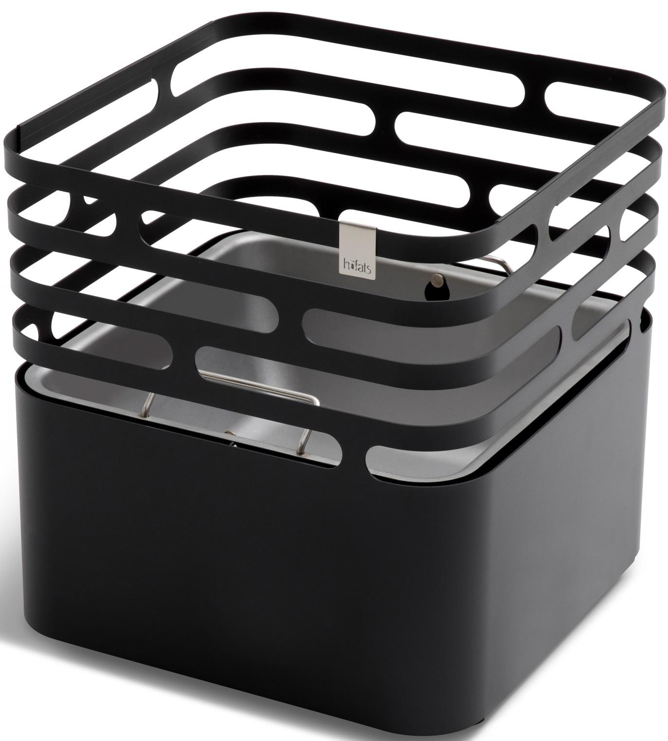 Cube fire basket black höfats