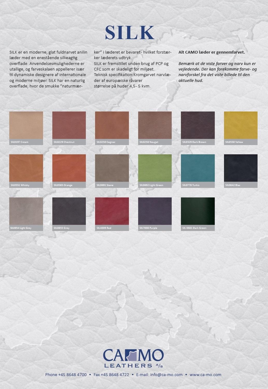Leather Sample Card Silk Camo Leathers