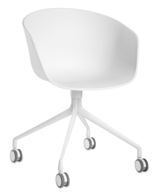 About A Chair AAC24 / AAC 24 black - Aluminium polished Hay