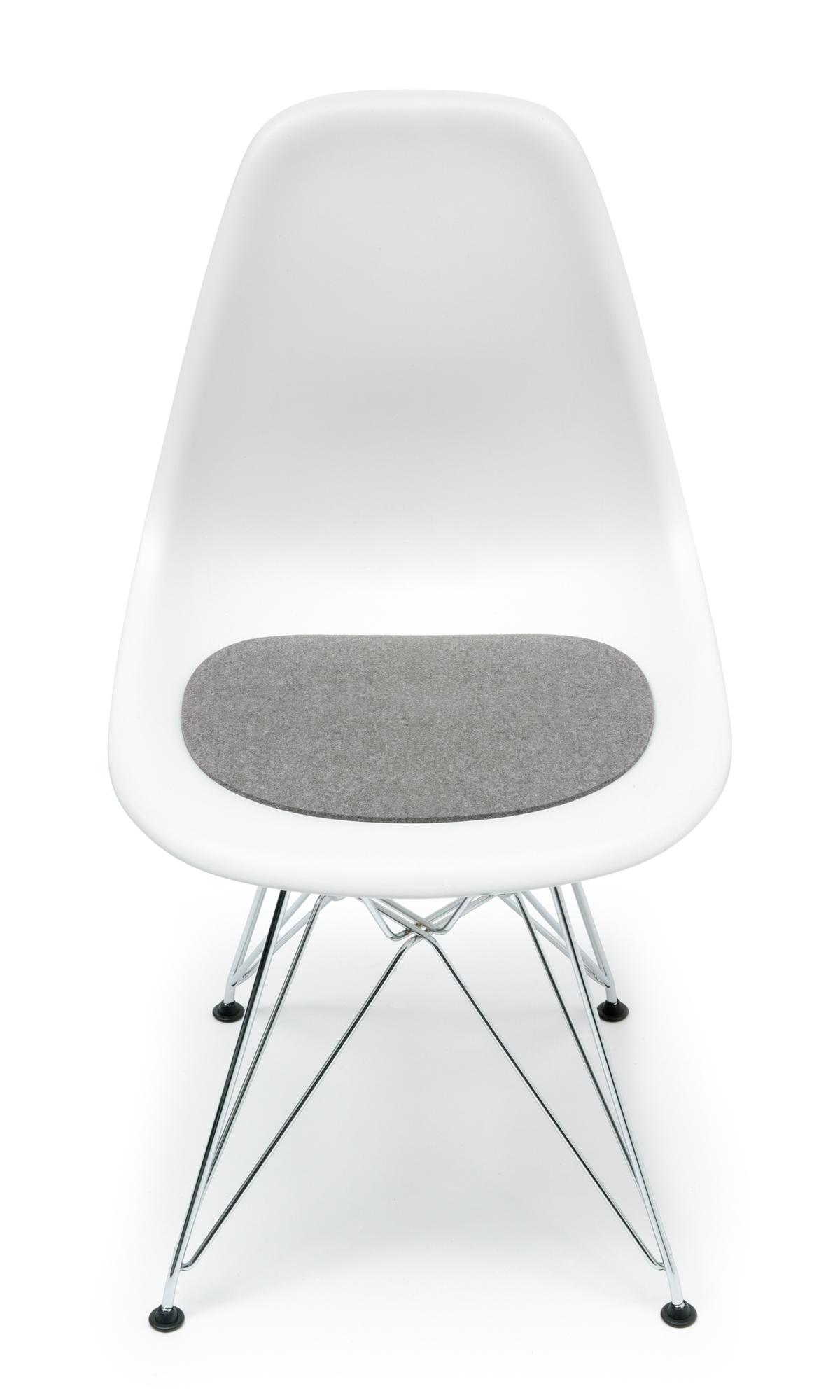 Seat pad-Felt pad Eames Plastic Side Chairs DSR / DSW light melange Hey Sign