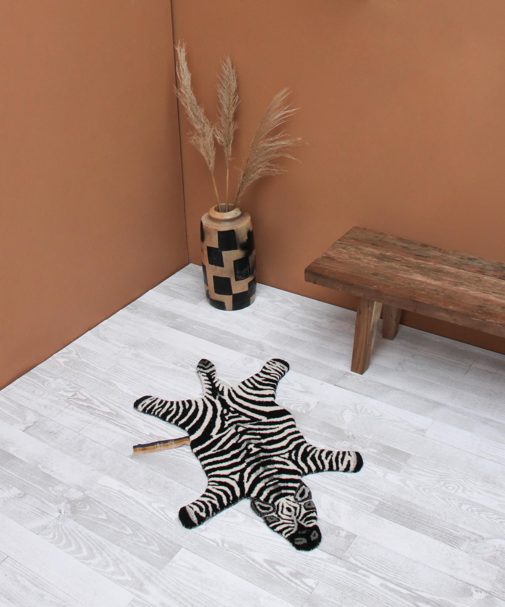 Chubby Zebra Rug Small Doing Goods
