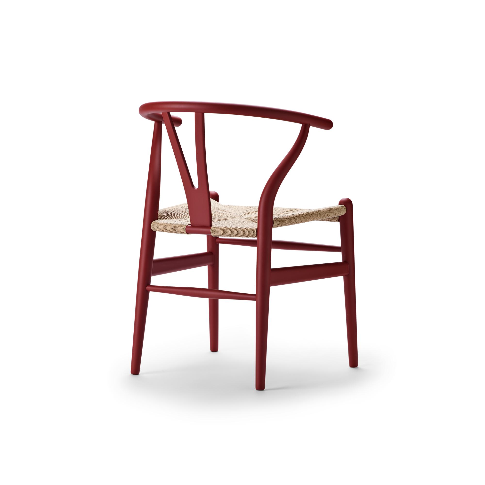 CH24 SOFT Wishbone Chair / Y-Chair Carl Hansen& Søn red