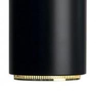 Stahl schwarz lackiert / Ring Messing poliert