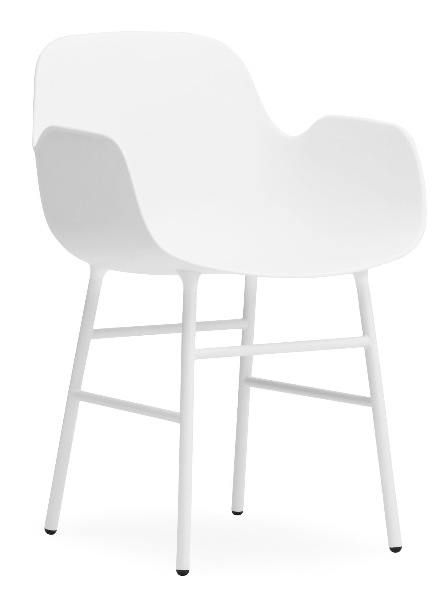 Form Armchair Lehnstuhl Normann Copenhagen-weiß-Eiche