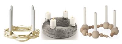 Christmaswreaths and candleholders