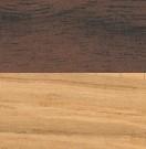 L 190 cm / Gestell: Eiche lackiert; Tischplatte: Walnuss lackiert