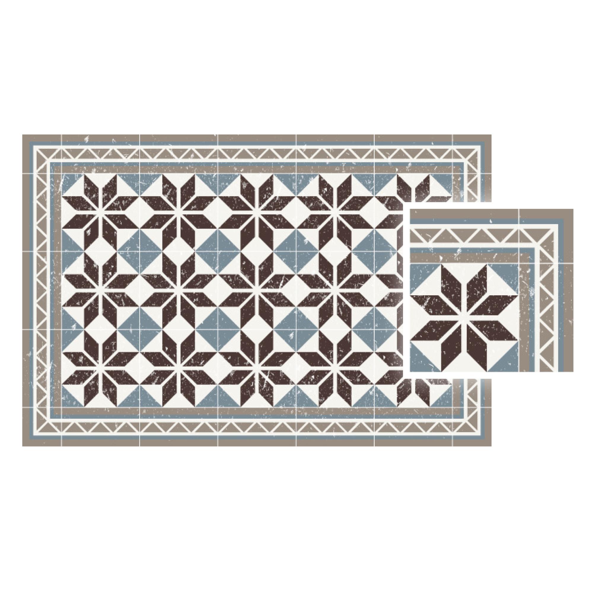 Matteo Vinyl Carpet Tiles Blue Contento 60x90 cm