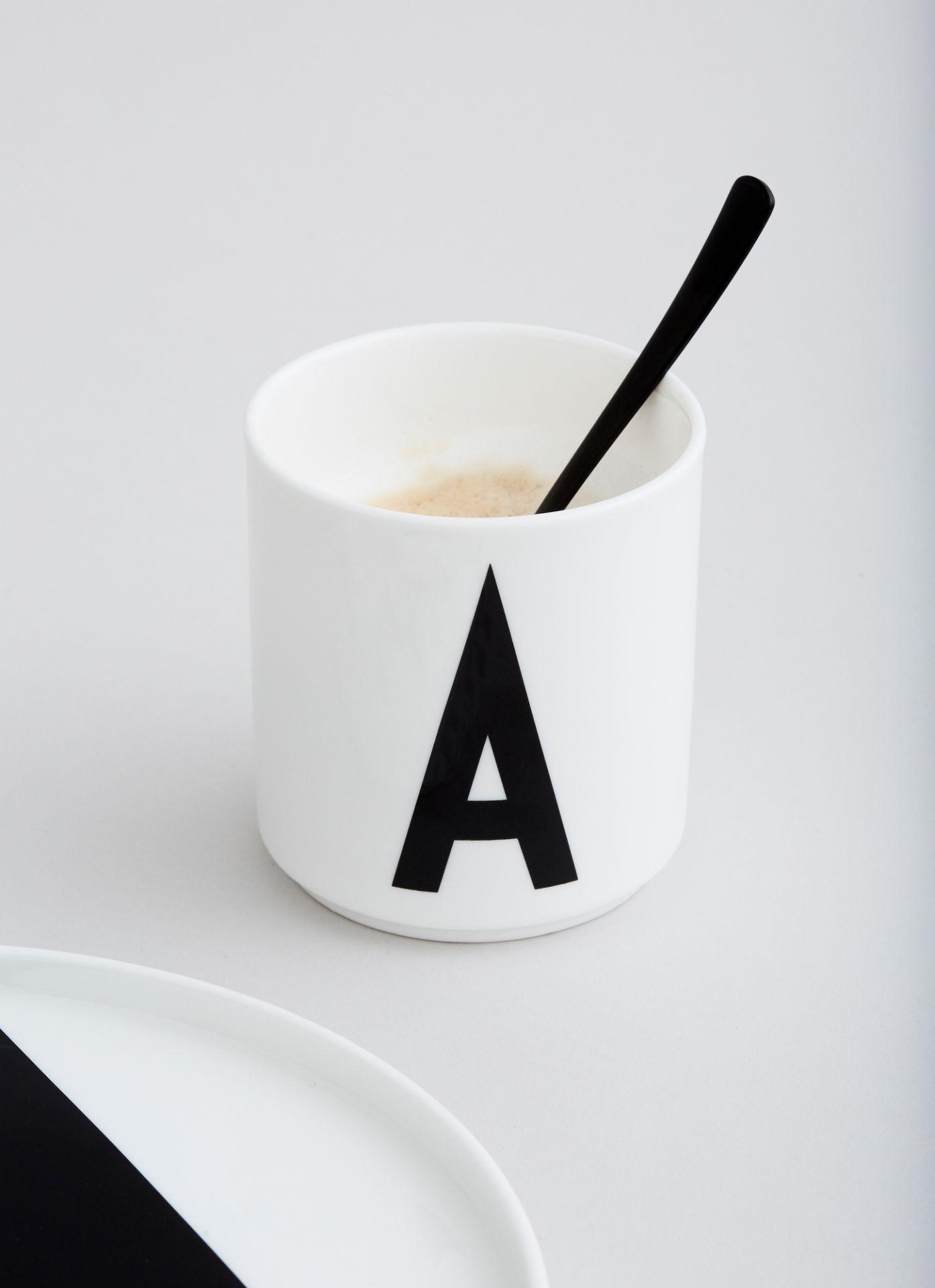 Letters mug / Porcelain cup Design Letters Z