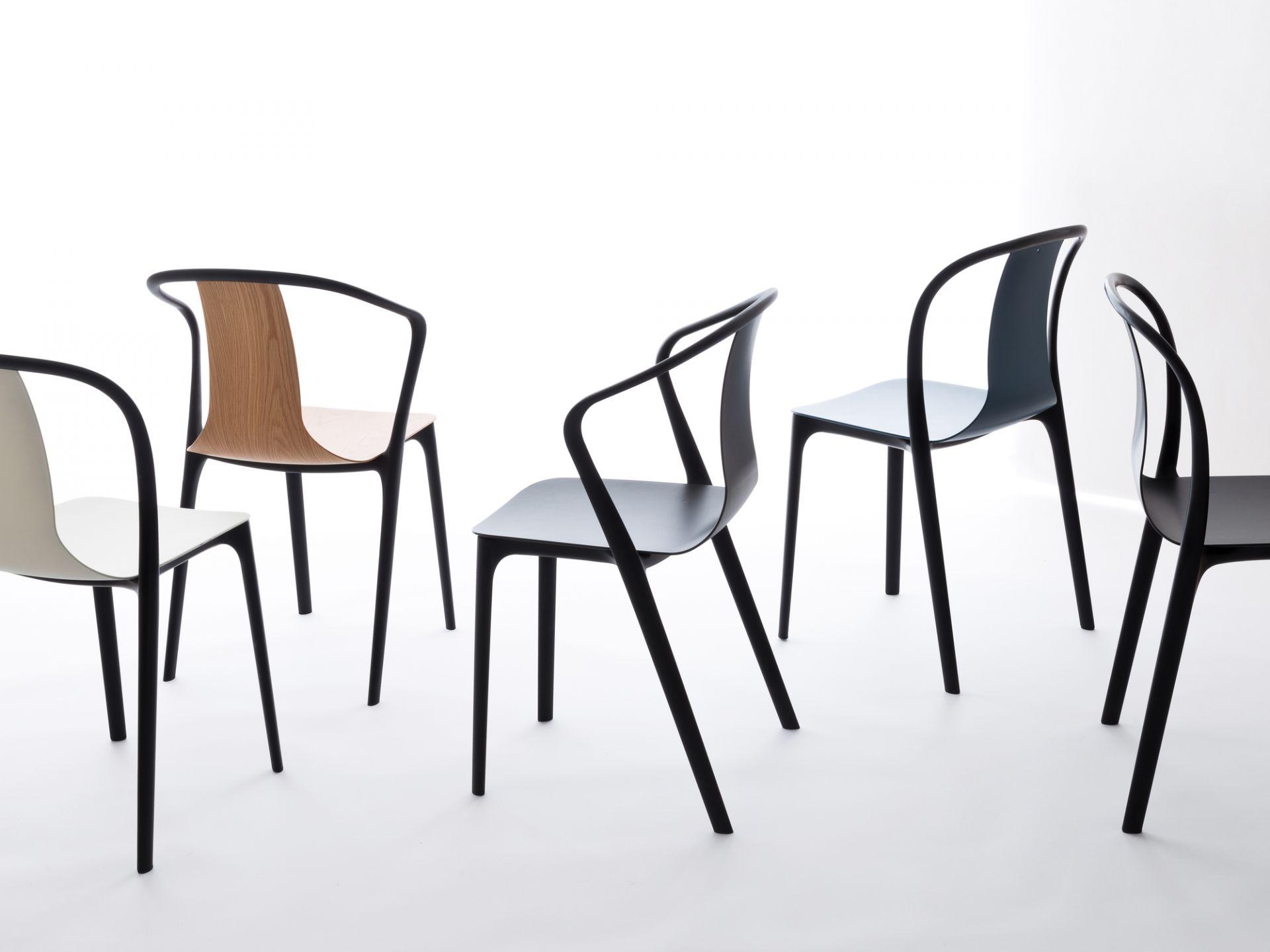 Belleville Chair Plastic Vitra moos grey