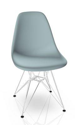 Eames Plastic Side Chair DSR Chair Vitra Chrom-Ice grey