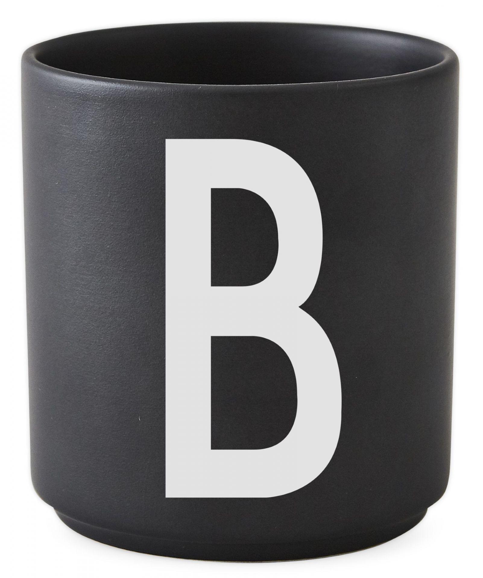 Buchstabenbecher Schwarz Design Letters-Q