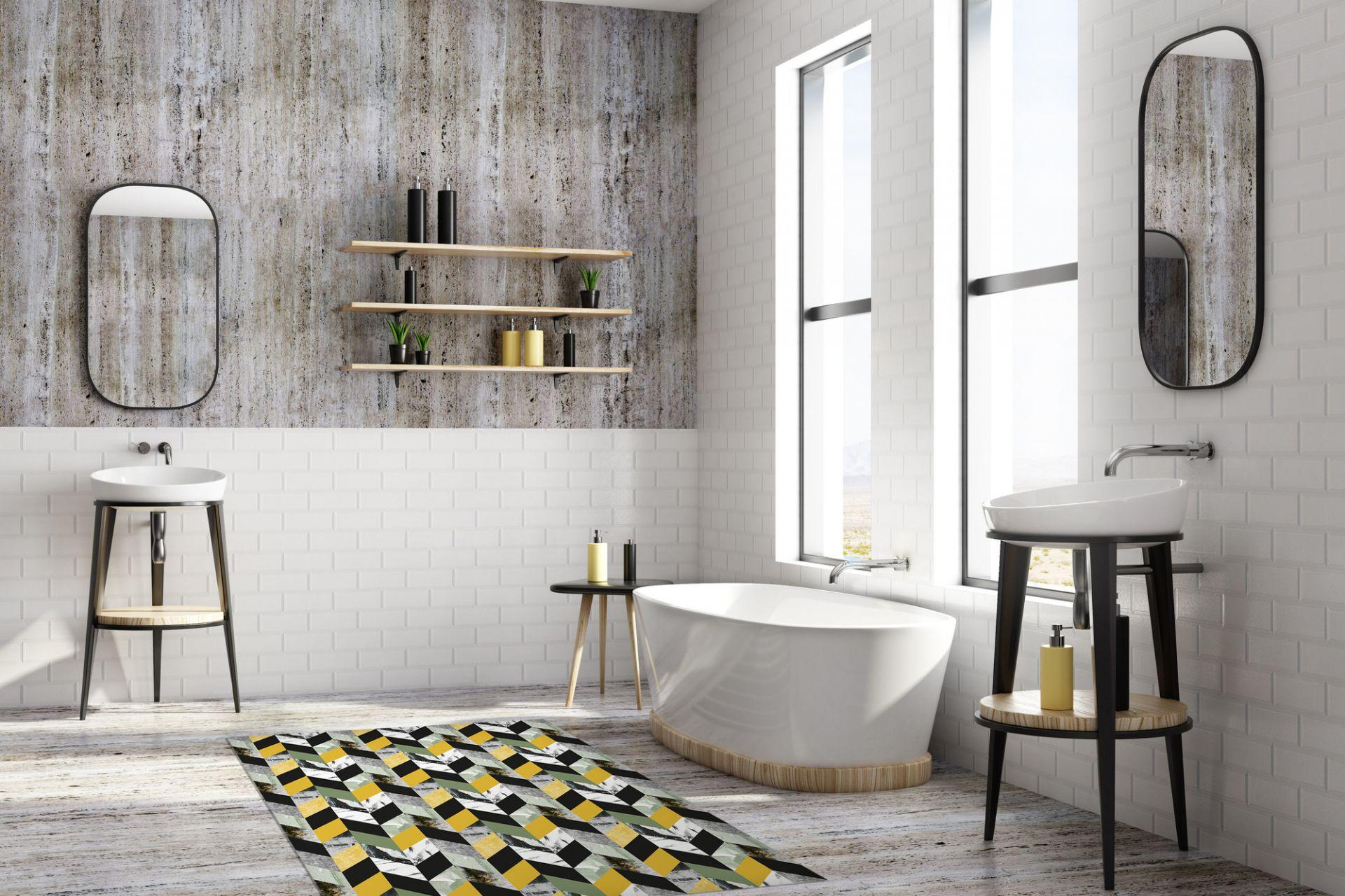 Matteo Vinyl Carpet Ethno black-white Contento 90x60 cm