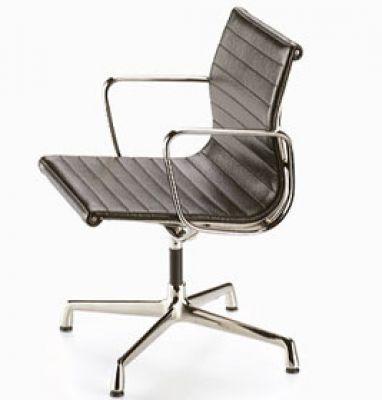 Aluminium Chair Leather [1958] Miniatur Vitra
