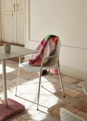 13Eighty Armlehnenstuhl Hay-Sitz Soft blau / Gestell pure grau