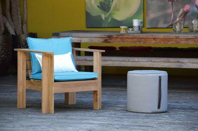 Batten Cushion for Lounge Armchair Turquoise Jan Kurtz