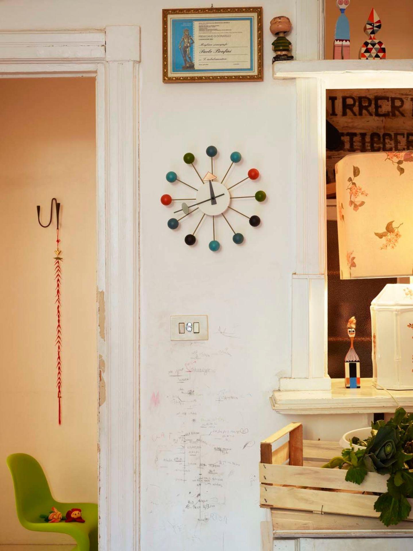 Ball Clock  Wall Clock - multicolour