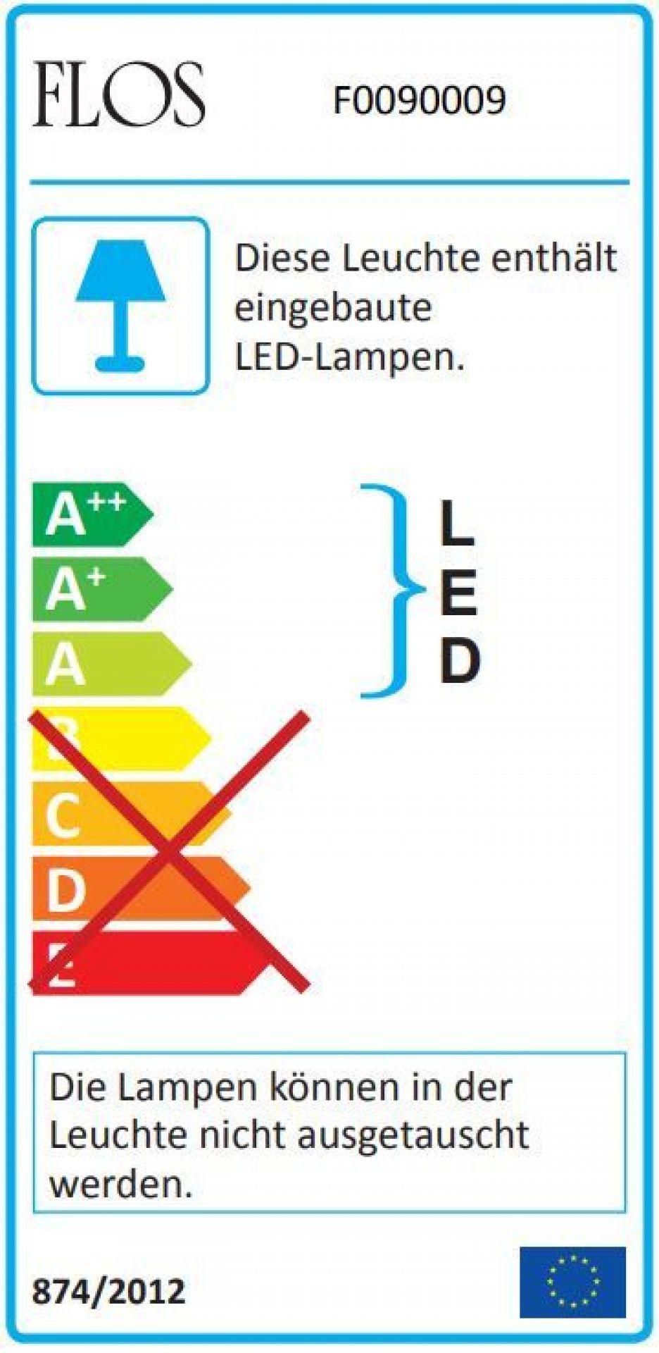 Aim LED Pendant light large Flos Black with dimmer