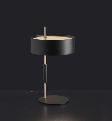 1953 Table Lamp Gold Black Oluce