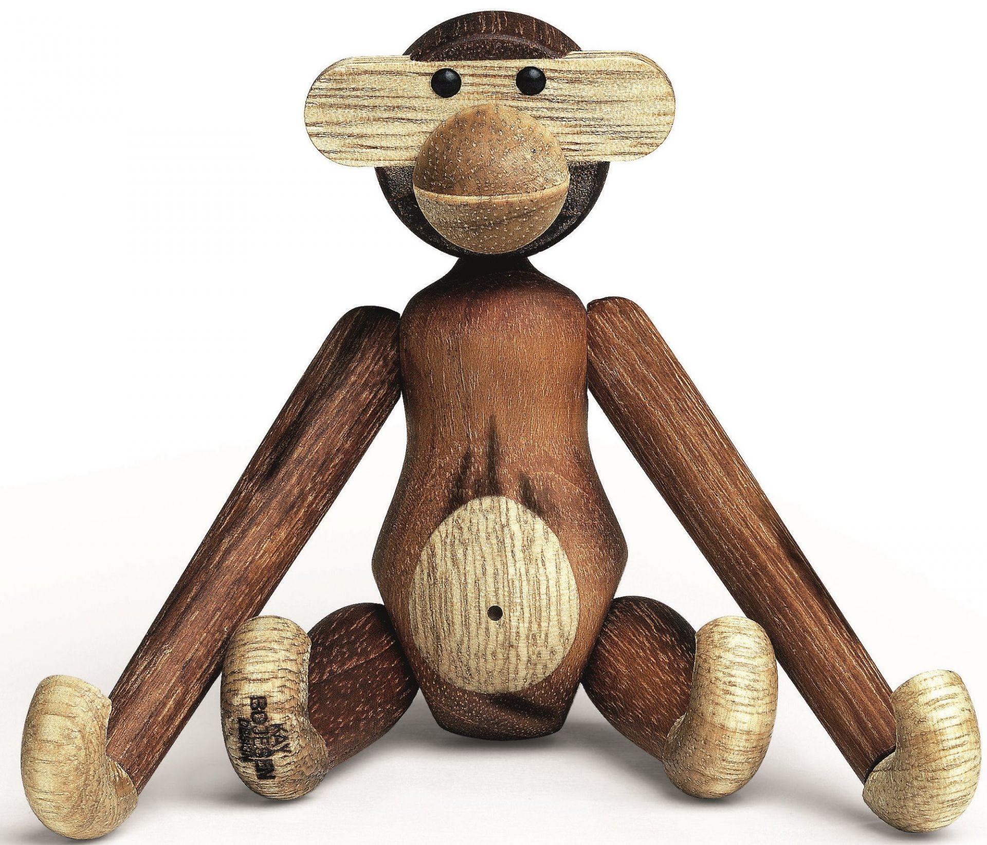 Monkey mini wooden figure teak Kay Bojesen
