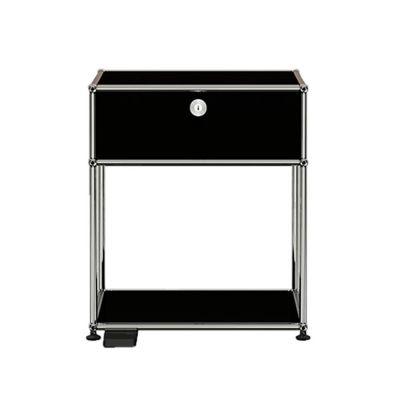 E bedside tabledimmable light graphite black USM Haller - QUICK SHIP