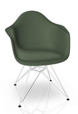 Eames Plastic Arm Chair DAR Chair Vitra Chrome - Forest