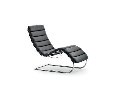 MR Bauhaus Edition chaise longue Knoll International Leather Ferro