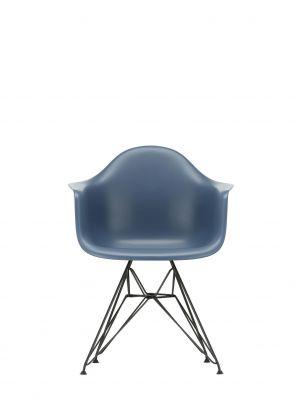 Eames Plastic Arm Chair DAR Chair Vitra Black - Sea blue