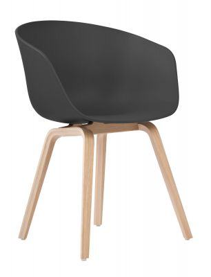About A Chair AAC22 / AAC 22 Chair BLACK / OAK MATT LACQUERED Hay SINGLE PIECES