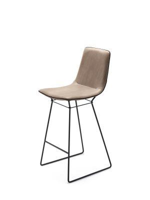 Amelie bar stool high back CanvasFreifrau Sitzmöbelmanufaktur