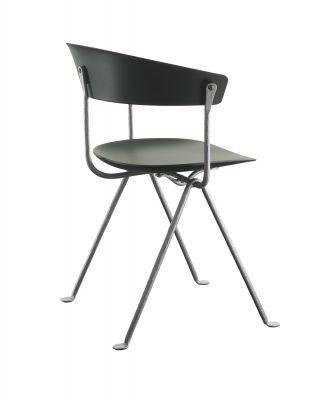 Officina Polypropilene chair galvanised dark green Magis