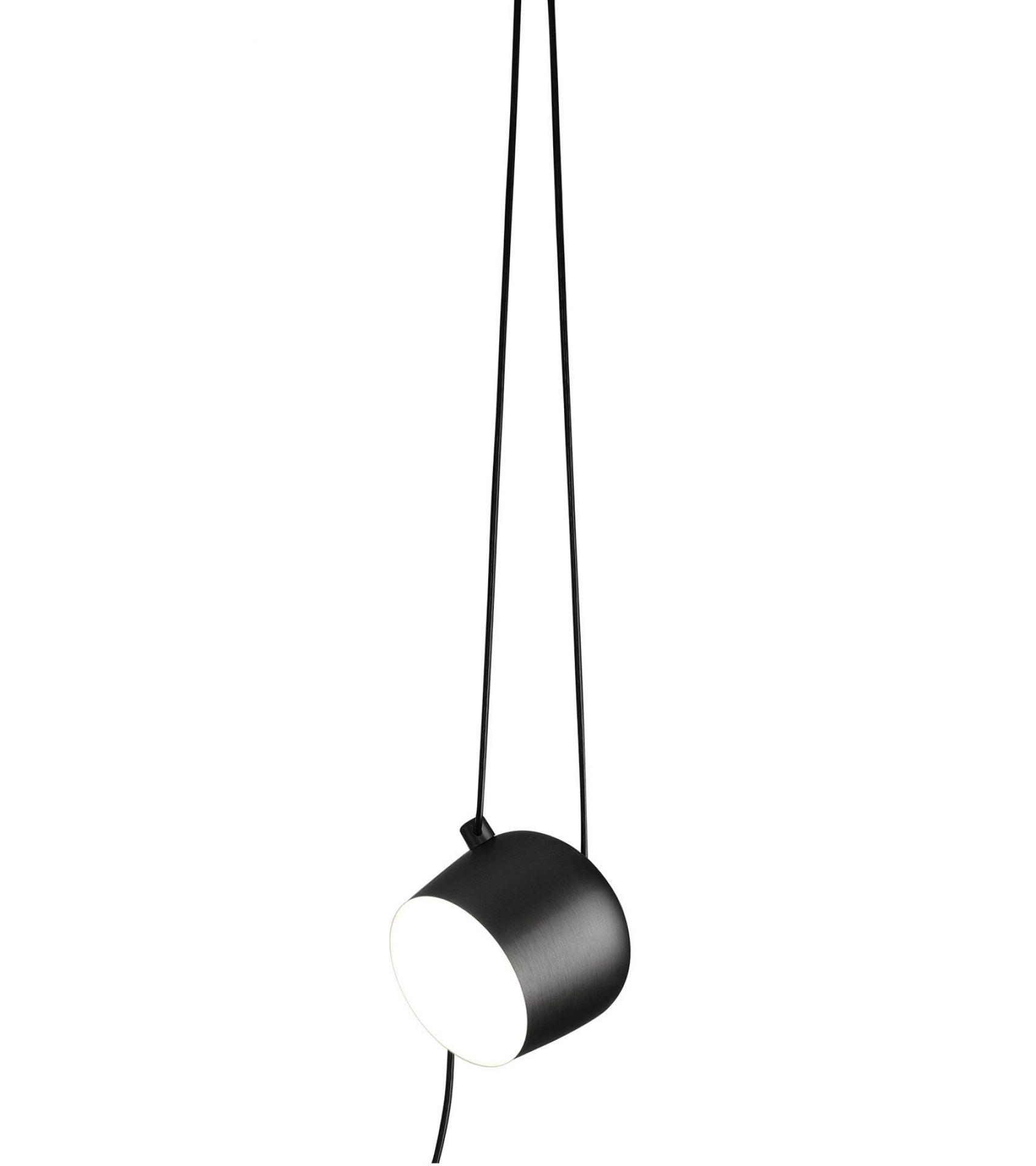 Aim Small Cable + Plug Pendant light Flos Black