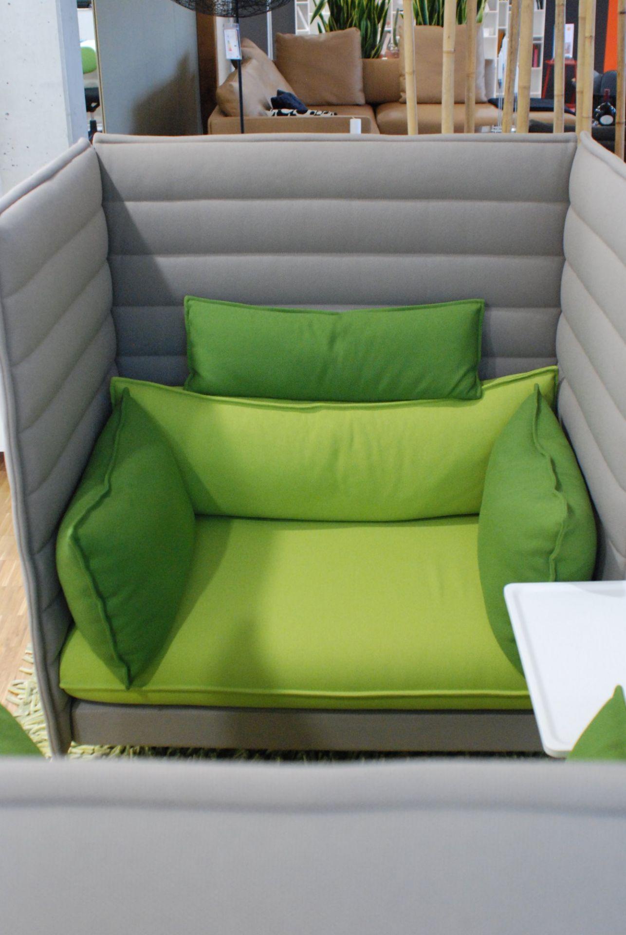 Alcove Highback Love Seat Sofa 2-er Set Vitra AUSSTELLUNGSSTÜCK