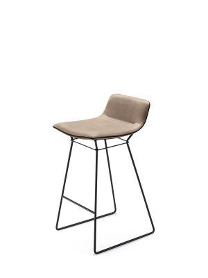 Amelie bar stool low back CanvasFreifrau Sitzmöbelmanufaktur