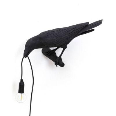 Bird Lamp Looking left black Seletti