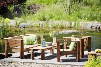 Batten Lounge Armchair Natural Jan Kurtz