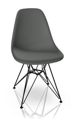 Eames Plastic Side Chair DSR Chair Vitra Black-Granite grey