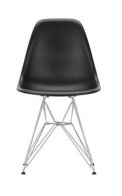 Eames Plastic Side Chair DSR Chair Vitra Chrome-deep black