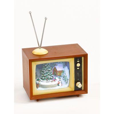 Christmas decoration TV small 15 cm Timstor