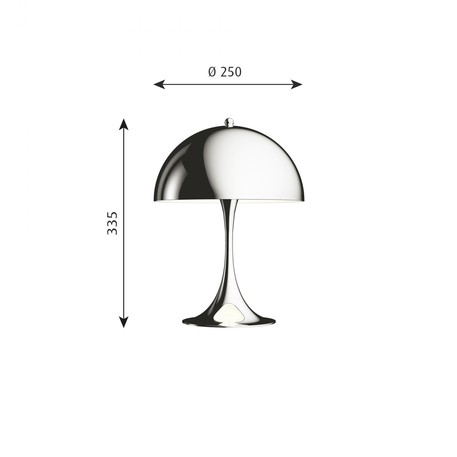 Panthella MINI LED table lampChrome Louis Poulsen