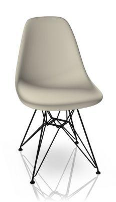 Eames Plastic Side Chair DSR Chair Vitra Black-Pebble