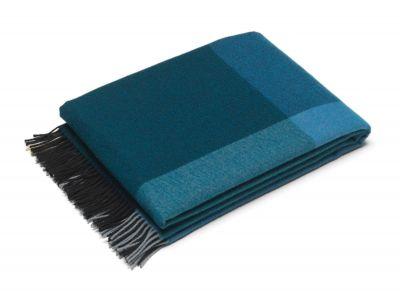 Colour Block Blanket Wolldecke Vitra-Schwarz-blau