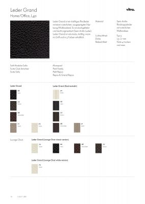 Leather Sample Card Leather Grand Vitra