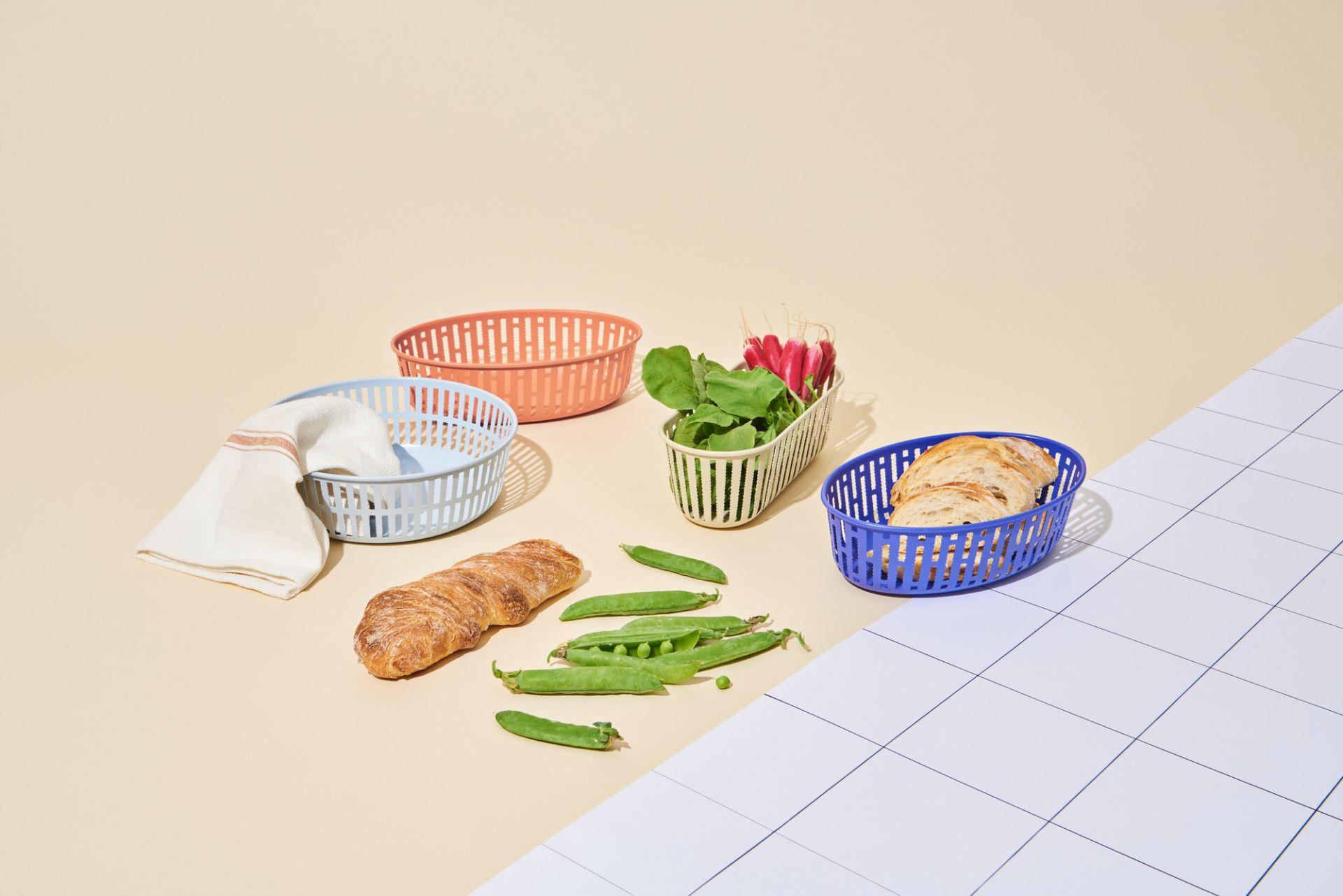Panier Oval Bread basket blue Hay